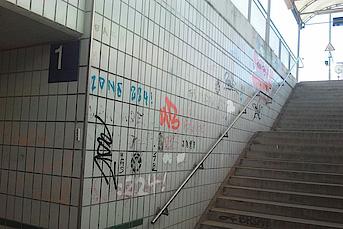 Graffitientfernung auf Fliesen