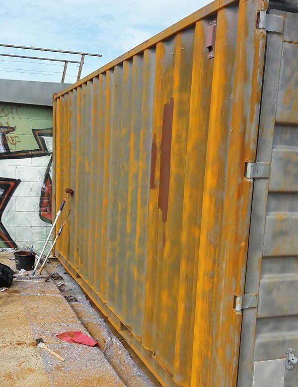 Sandstrahlen Container