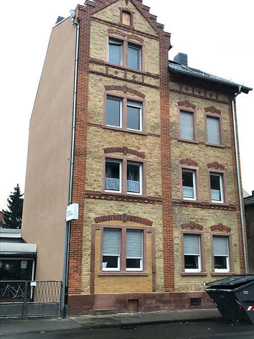 Sandstrahlen Fassade