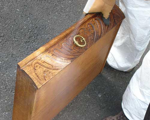 Trockeneisstrahlen Möbel