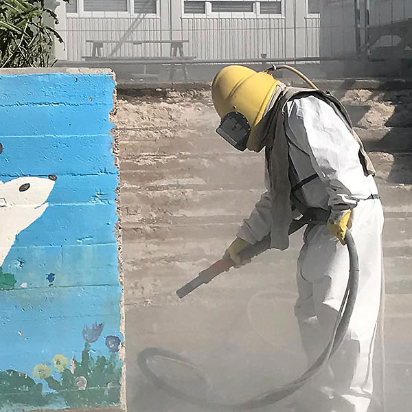 Graffiti entfernen - Sandstrahlen