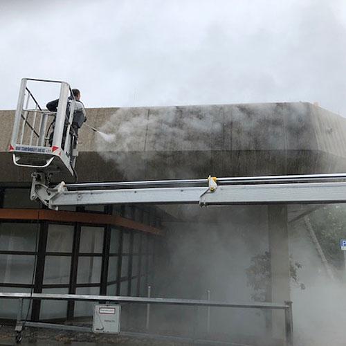 Wasserhoechstdruckstrahlen Fassade